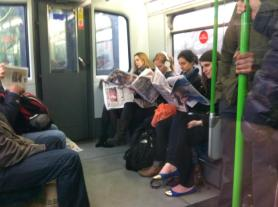 Looking like true Londoners