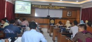 Suasana Bimtek Pengelolaan Barang Milik Daerah yang digelar Pemkab Sekadau di Aula MEP Kampus UGM Yogyakarta.
