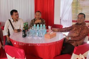 Ketua DPRD Landak, Heri Saman SH MH bersama Wakil Ketua DPRD Landak, Sabinus