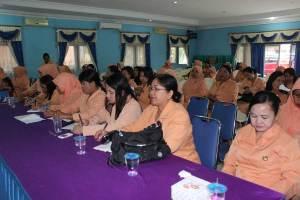 Peserta sosialisasi dalam rangkaian kegiatan HUT DPW Sekadau ke-16