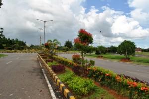 Salah satu taman kota di sekitar Kantor Bupati Sambas.     M Ridho/Rakyat Kalbar.