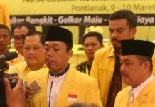 WAWANCARA NUSRON. Koordinator Bidang Pemenangan Pemilu DPP Partai Golkar, untuk Wilayah Jawa dan Kalimantan, Nusron Wahid diwawancarai usai Rakornis Pemenangan Pilkada Partai Golkar di Pontianak, Jumat (9/3). Zainudin-RK