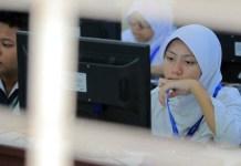 Peserta UNBK SMP di Kaltim beberapa waktu lalu. (Fuad Muhammad/Kaltim Post/Jawa Pos Group)