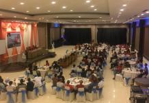 DIALOG. Suasana dialog bertemakan 'Pembangunan Nasional yang Berkelanjutan di Tengah Dinamika Pemilu 2019' yang digelar di Hotel Star Pontianak, Minggu malam (10/6). Nova Sari-RK