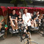 Riding in a Rickshaw in China
