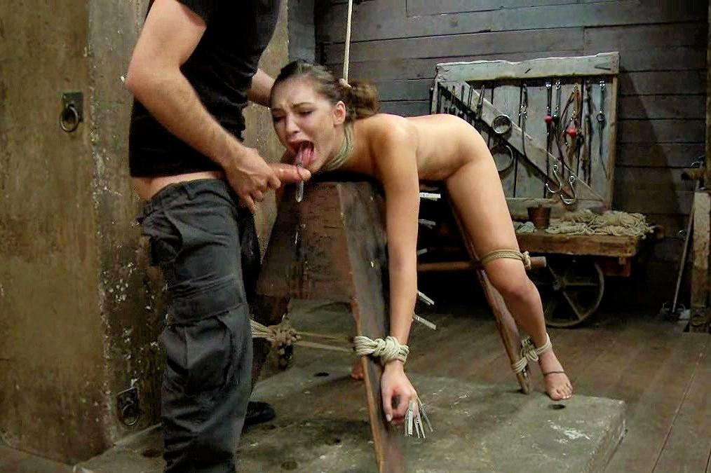 Dominatrix ebony slave white in thumb screw torture