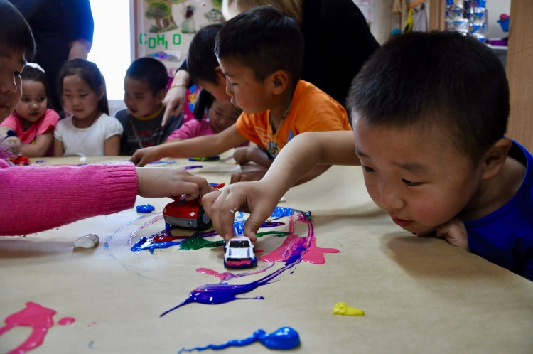 Kids in need in Mongolia are given help and education in kindergartens and summer camps by the Veloo Foundation