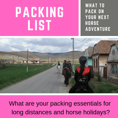 Whats on your Packing List for Equine Adventures?