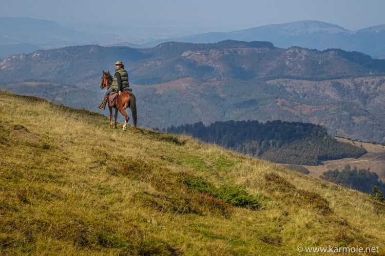 The Balkan mountains in Bulgaria on horseback.
