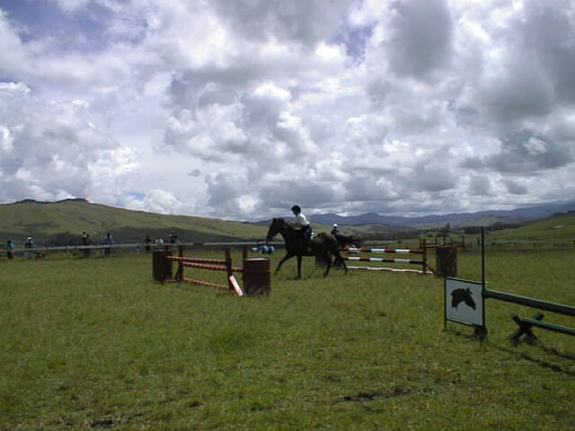 show jumping at ukarumpa pony club in papua new guinea