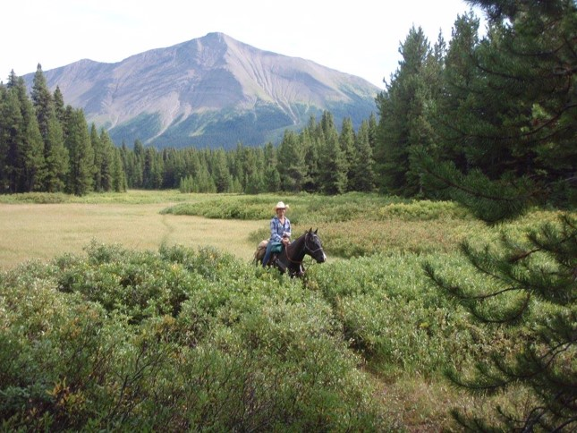 Trail Riding in Canada near the Kakwa Mountain