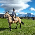 At the start of the first loop of my first time endurance riding in Chile