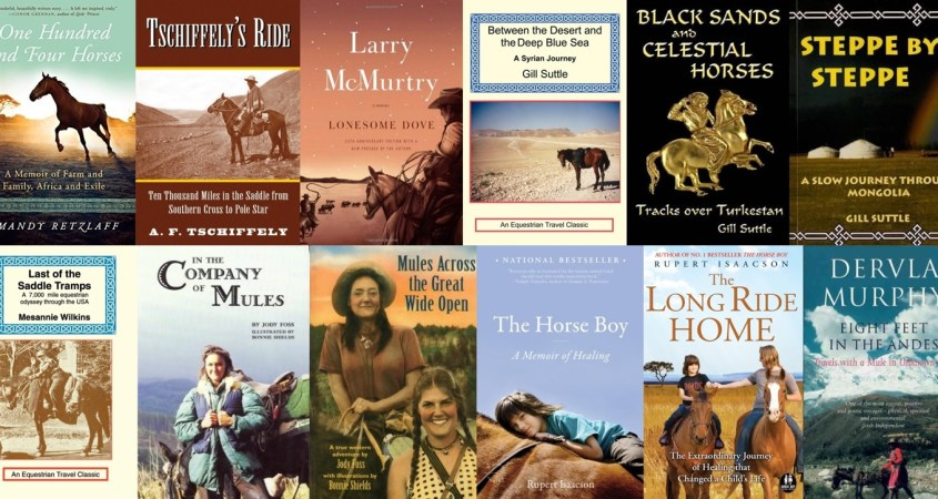 Collection of book covers of the horse travel book list - Part 1