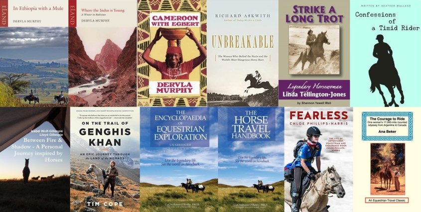 Collections of book covers of the horse travel book list - Part 2