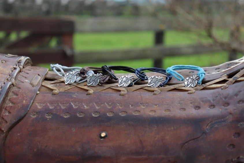 All Silver Sterling Equestrian Bracelets in 5 colors