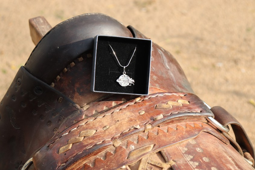 Adventuresses Necklace with a thin chain in shipping box