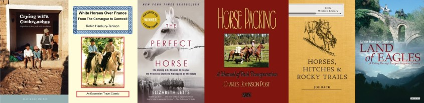 Collection of book covers of must read horse travel books - Part 3