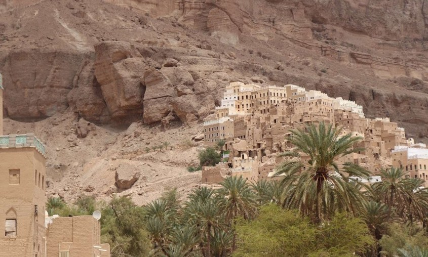Traditional architecture of houses in Hadrahmaut, Yemen