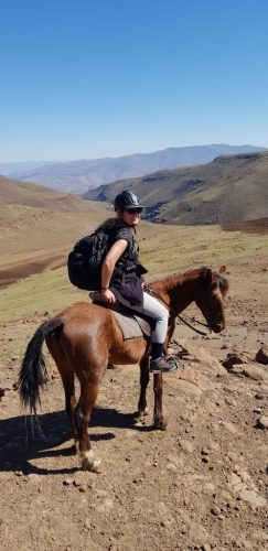 Riding through Lesotho on horseback