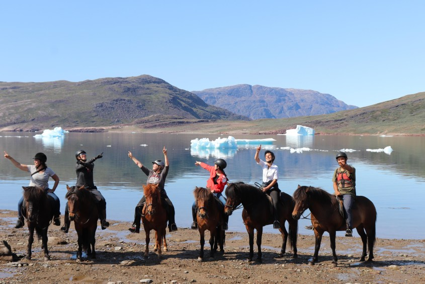 The opinions on where to go next on this Greeland horse riding expedition might differ, but wherever you go you'll find beautiful scenery.