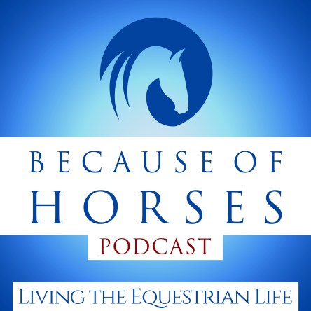 Because of Horses Podcast logo for best horse podcasts