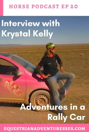 horse and travel podcast photo - Ep 20 Interview with Krystal Kelly - Marriage Proposals in Egypt & Adventures in a Rally Car