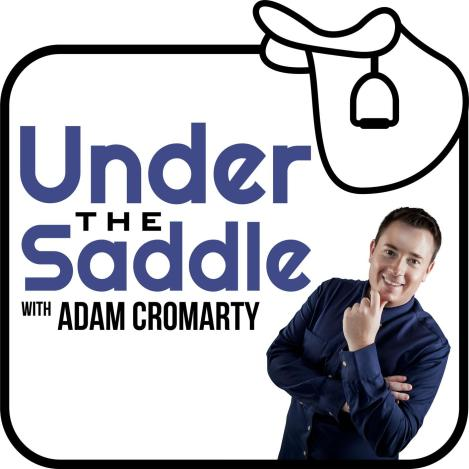 Under The Saddle Podcast Logo for best horse podcasts shows