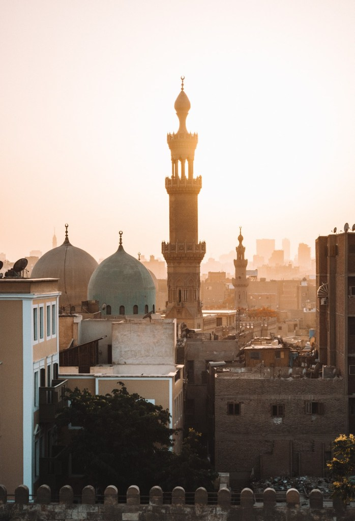 View of a mosque in the city of Cairo in Egypt