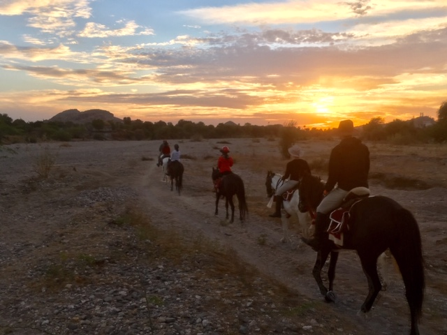 Horse riding into a stunning sunset in Rajasthan, India