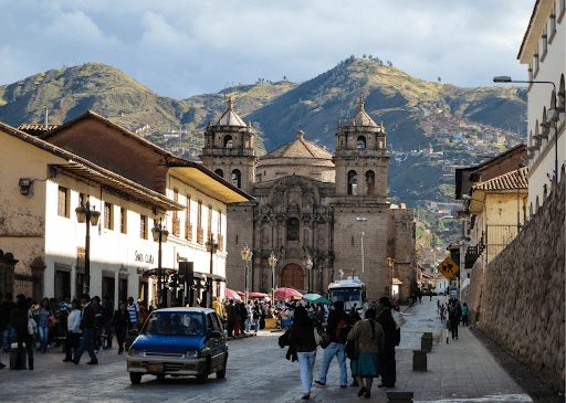 The busy streets of the historical city of Cusco are just on of the many highlights of Peru.