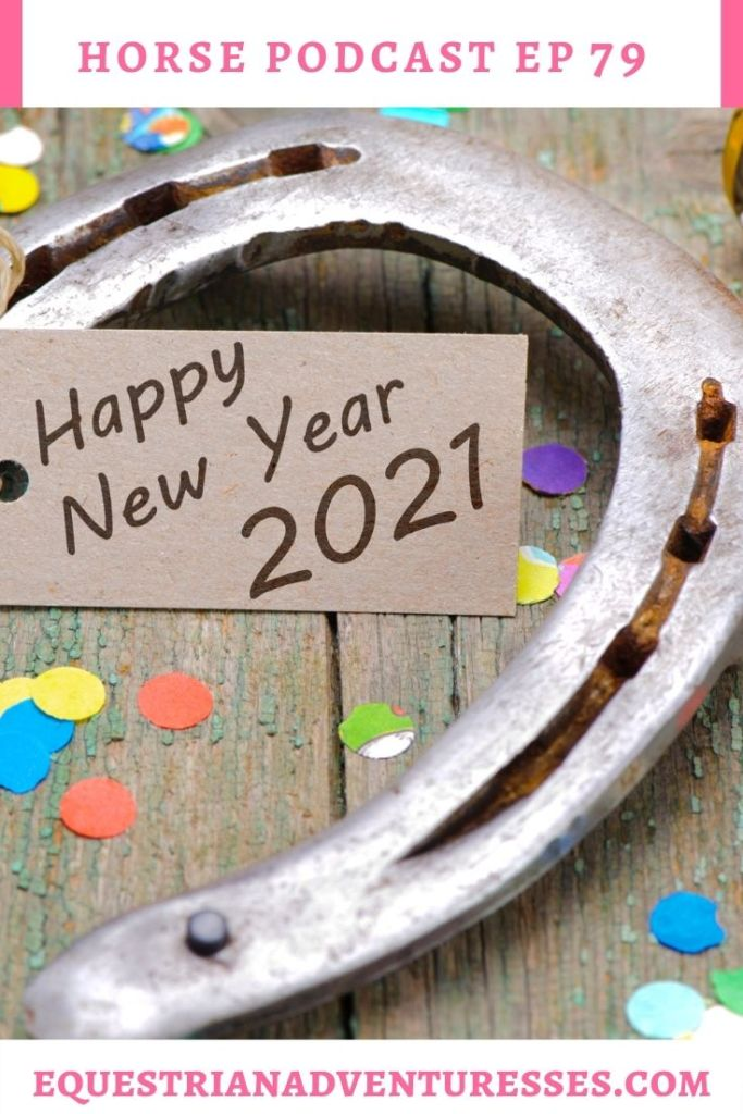 Horse and travel podcast pin - Ep 79 New Year, New Adventures Await
