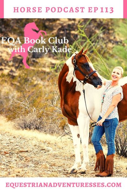 Horse and travel podcast pin - Ep 113 EQA Book Club