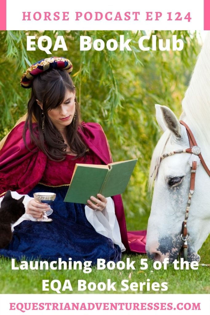 Horse and travel podcast pin - Ep 124 EQA Book Club