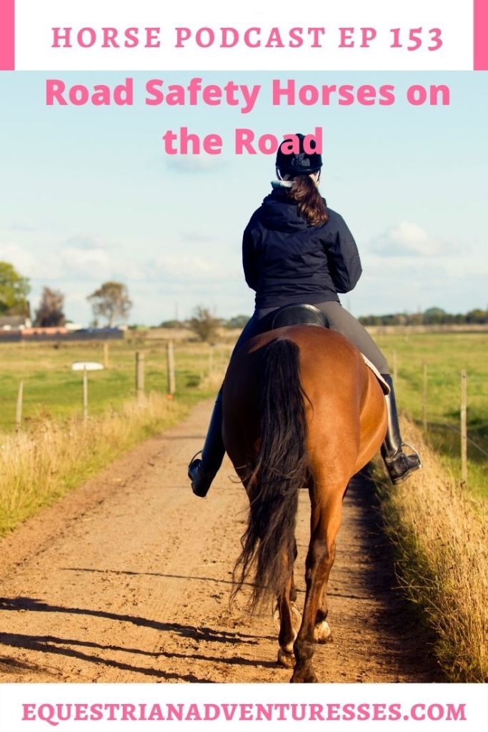 Horse and travel podcast pin - 153: Road Safety - Horses on the road