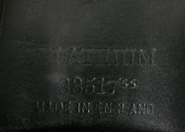 Flap Stamp Showing Seat & Tree Size on Albion Platinum 17W SN: 84322