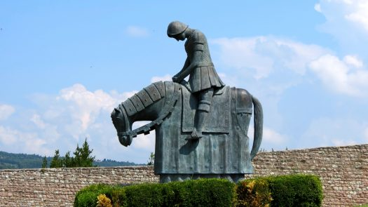 Image result for st. francis statue on horse
