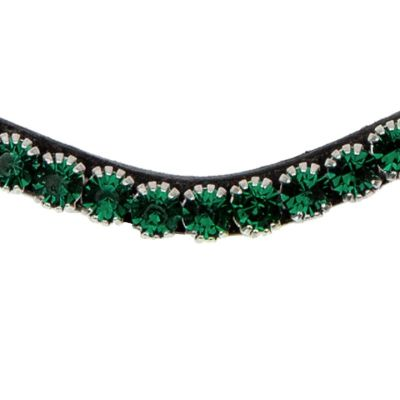 Emerald green browband