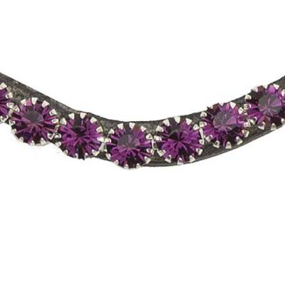 Purple bling swarovski browband
