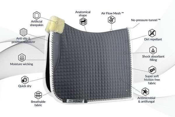 dressage saddlepad features and benefits