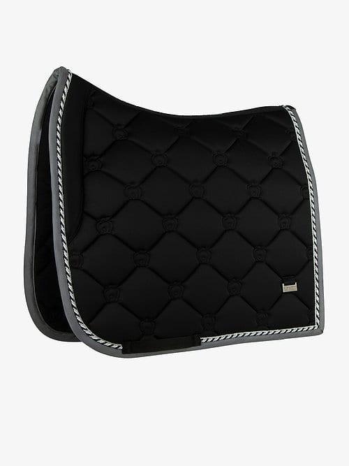 Black dressage saddle pad