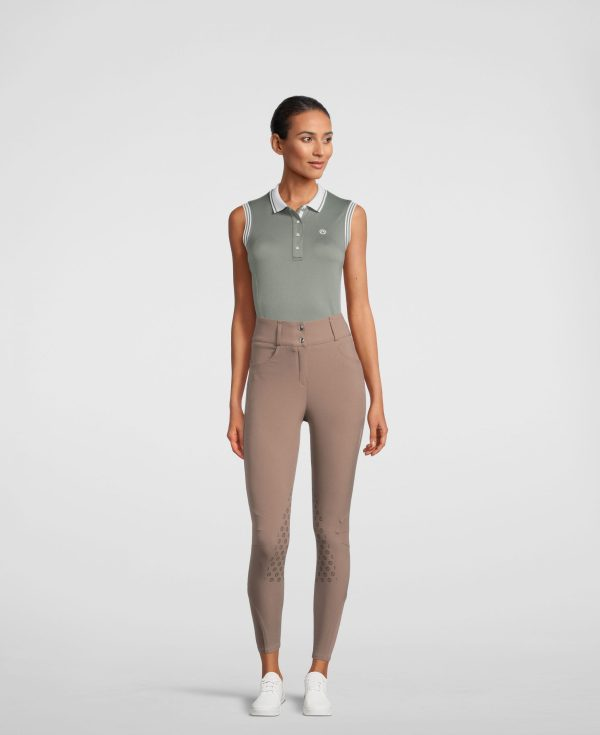 Thyme sleeveless polo shirt