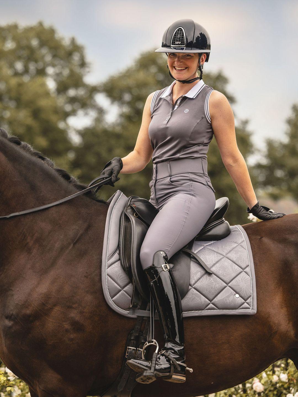 dressage grey saddle pad