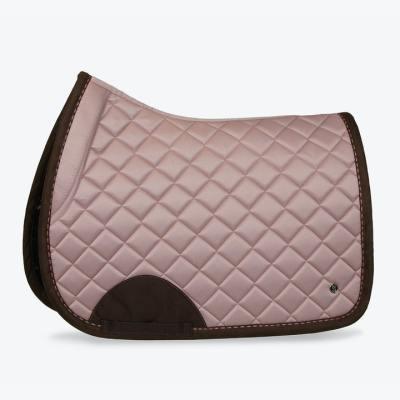 blush brown suede saddle pad