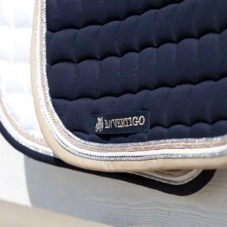 tapis de selle dressage lexington b vertigo blanc brillant cheval