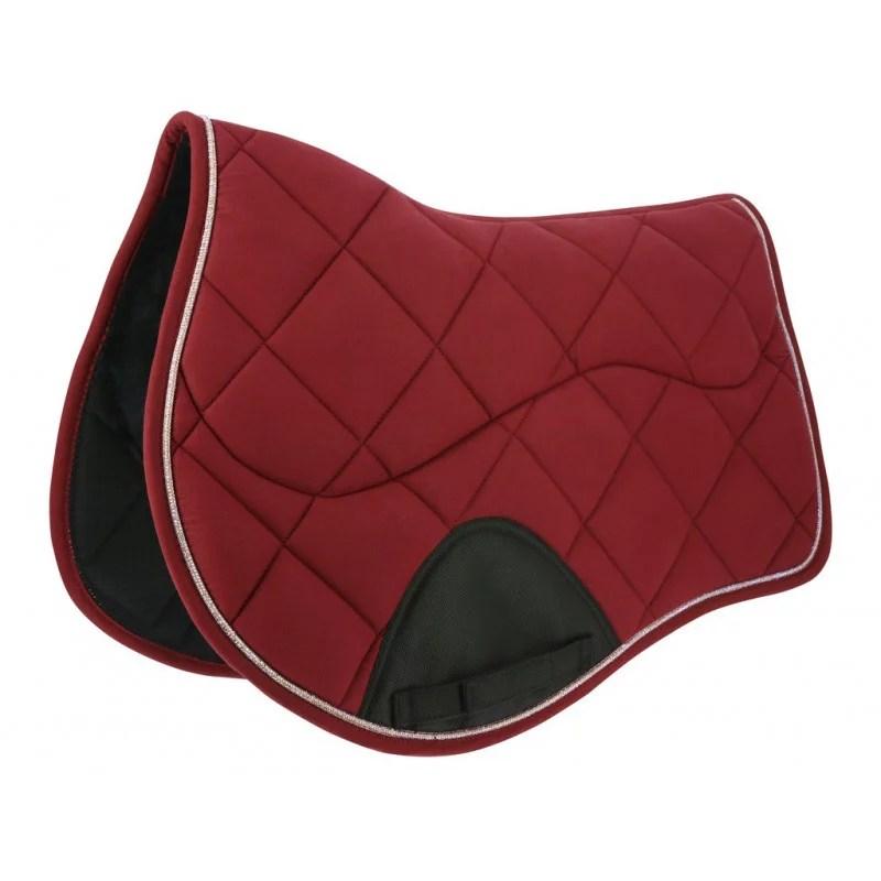 equi theme funny saddle pad burgundy full