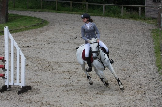 Libby is placed first in two rounds.  Photo: Team Equihunter