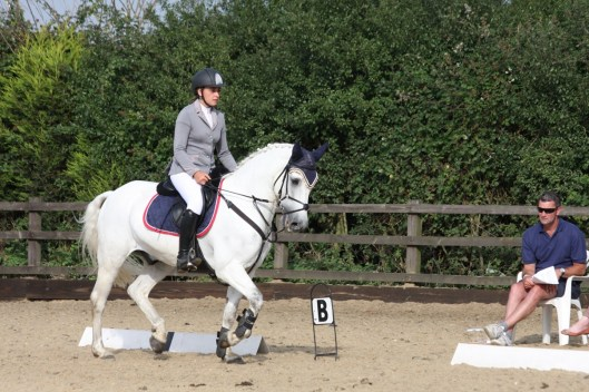 Libby in a dressage style test as part of the competition