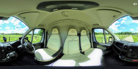 Panoramic Views of 2020 Equihunter Encore 45 in Audi Nardo Grey