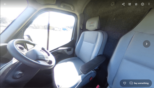 Aurora panoramic in-cab image