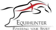 Equihunter Leaping Horse on St Georges Cross Logo